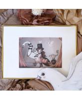 Miss Lucy mini print - 24x18 cm