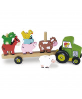 Tractor with animals stacking game