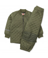 Olive green thermoset