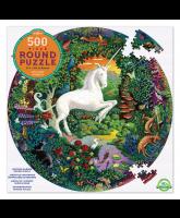 Round puzzle 500 pcs - unicorn