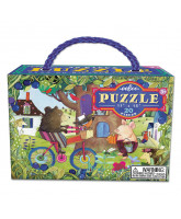 Puzzle 20 pcs - bear on bicycle