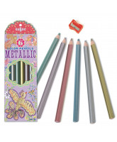 6 pack metallic color pencils