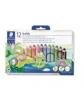Chunky 3-in-1 color pencils 12 pcs