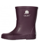 Dark purple wellies