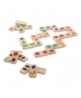 Fruit and vegetable dominoes