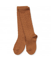 Sienna knee socks wth lace pattern