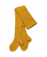 Mustard wool tights