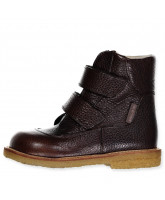 Dark brown tex winter boots