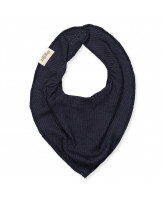 Darkest blue rib bib
