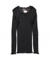 Black silk LS t-shirt