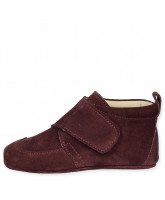 Bordeaux suede slippers