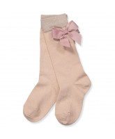 Rose knee socks with bow