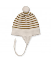 Striped wool baby hat