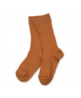 Brown rib socks