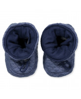 Navy baby boots