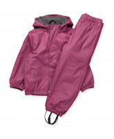 Rose rubber rain set w/fleece