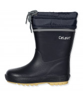 Navy winter wellies