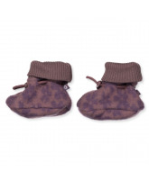 Flower wool fleece baby boots