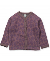 Flower wool fleece cardigan