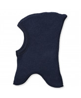 Navy wool fleece kids' balaclava