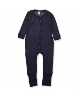 Navy wool playsuit