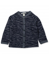 Zebra wool fleece cardigan