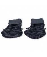 Zebra wool fleece baby boots