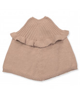 Rose wool poncho