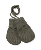 Army wool baby mittens