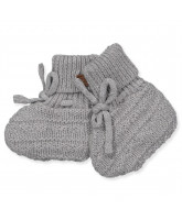 Grey wool baby boots