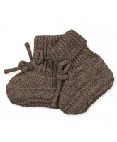 Brown wool baby boots