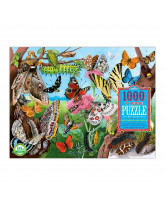 Puzzle 1000 pcs - butterflies and moths
