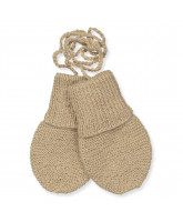 Camel wool baby mittens