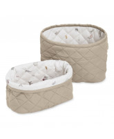 Organic quilted baskets