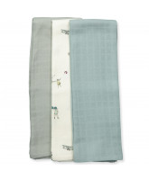 Organic 3 pack muslin cloths