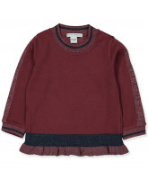 Organic bordeaux sweater
