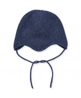 Blue wool/cashmere baby hat