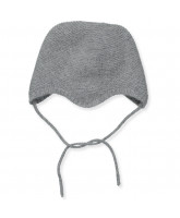 Grey wool/cashmere baby hat