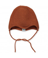 Orange wool/cashmere baby hat