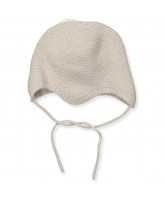 Cream wool/cashmere baby hat