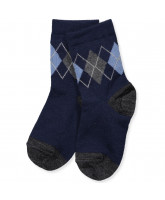Navy wool socks