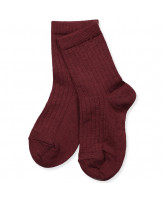 Bordeaux wool socks