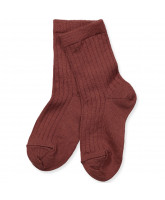 Dark red wool socks