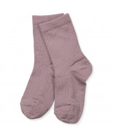 Purple wool socks