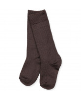 Brown wool knee socks