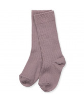 Purple wool knee socks