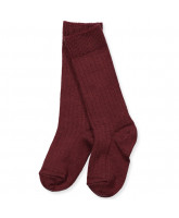 Bordeaux wool knee socks