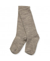 Grey wool knee socks