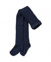 Navy wool tights