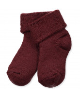 Bordeaux wool baby socks